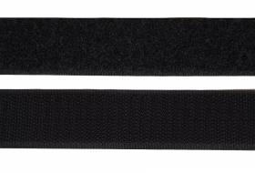 Klettband 20 mm, schwarz
