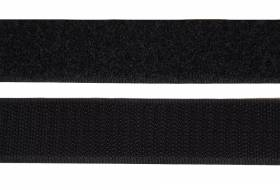 Klettband 25 mm, schwarz