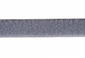 Klettband 20 mm grau, weiche Seite, Flausch