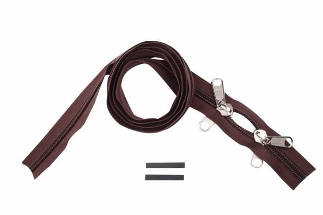 YKK rits 10 mm 2-weg niet deelbaar bruin O-vorm
