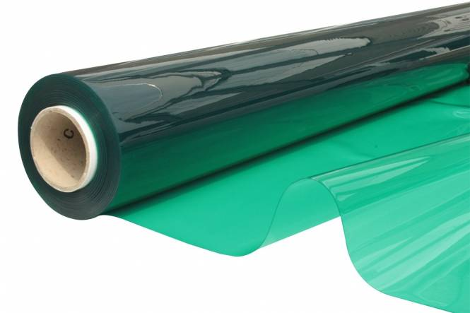 Transparant Zeltfensterfolie FR 140 cm, 0,65 mm, grün